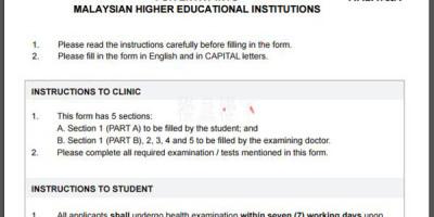 马来西亚学生签证体检要求你知道多少?切不可大意