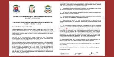 新冠肺炎期间马来西亚教会延迟集会的相关通告