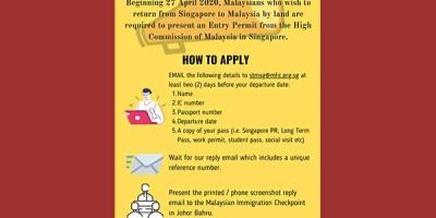 相当硬核,大马人新加坡陆路入境马来西亚也需要批准